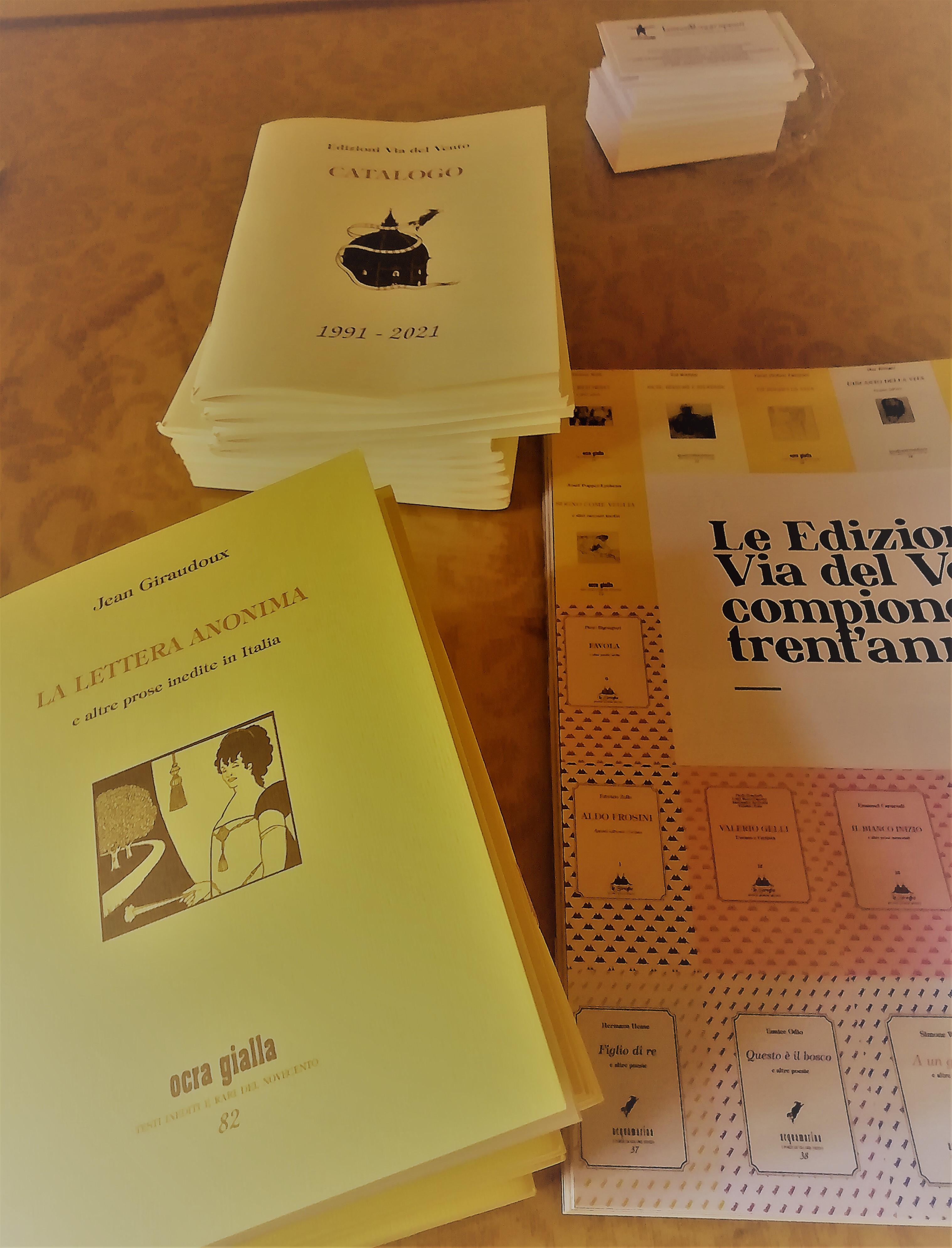 Nuova pubblicazione e catalogo per le Edizioni Via del Vento
